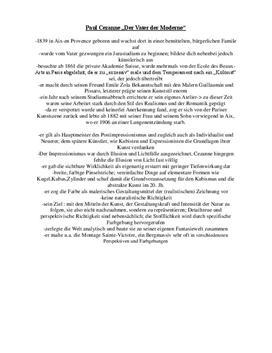 """Referat von Paul Cezanne """"Der Vater der Moderne"""""""