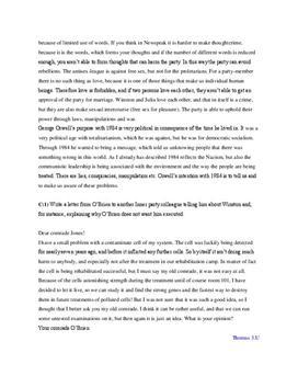"""Essay on """"1984"""" - Schulhilfe.de"""