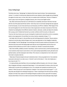 Portraying a person essay