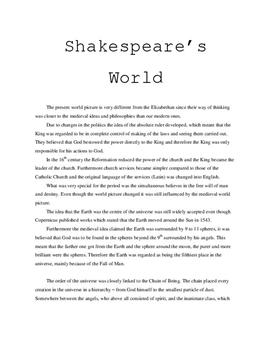 Shakespeare`s World