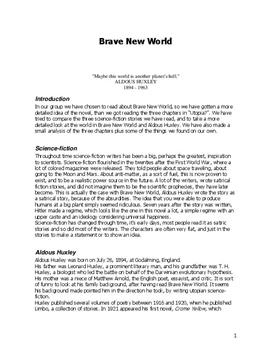 brave new world character analysis essay
