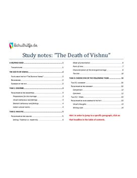 The Death of Vishnu Abitur - Goldnotizen