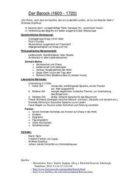 Barock und Aufklärung Referat