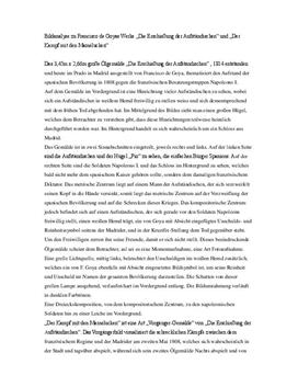 Bildanalyse zu Francisco de Goyas Werke