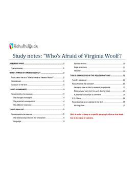 Who's Afraid of Virginia Woolf Abitur? 2010 - Goldnotizen