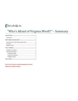 Who's Afraid of Virginia Woolf? Summary - Goldnotizen