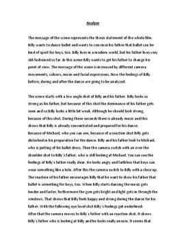 Billy Elliot Analyse