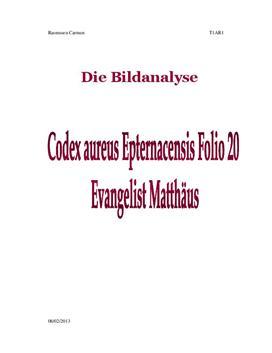 Codex aureus epternacensis | Analyse