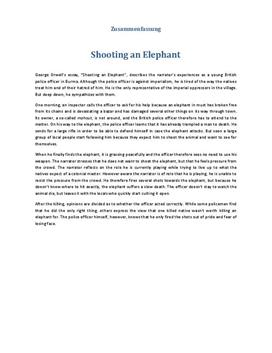 orwells to shoot an elephant analysis