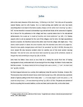 A Meeting in the Dark Charakterisierung John