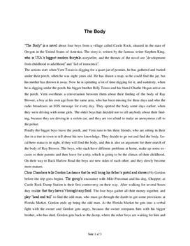 The Body Zusammenfassung