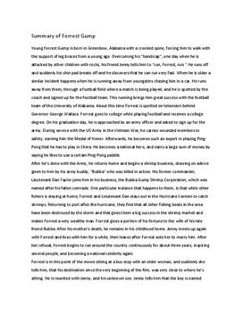 forrest gump conclusion Forrest gump essay, buy custom forrest gump essay paper cheap,  in conclusion, the movie forrest gump is an exciting and inspirational one to watch.