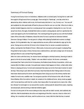 Forrest Gump Summary Schulhilfede