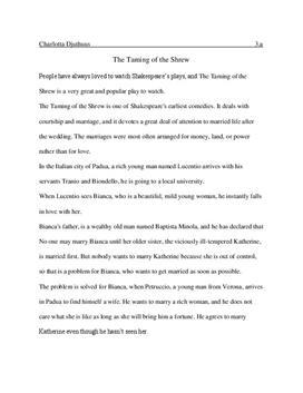 The Taming of the Shrew Zusammenfassung und Analyse