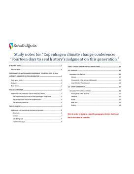 Copenhagen climate change - abitur 2010