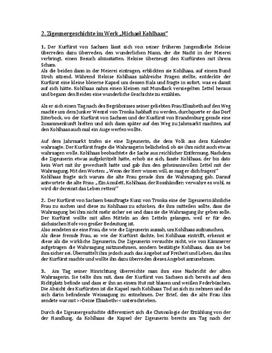"""Zigeunergeschichte im Werk """"Michael Kohlhaas"""""""