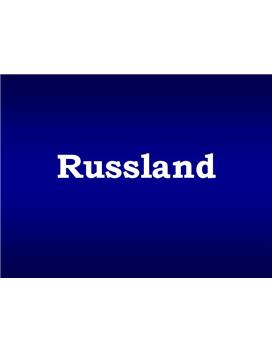 Russland Referat