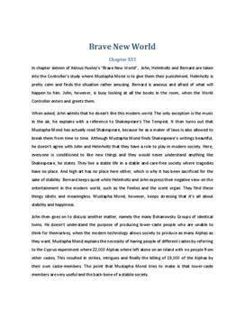 Brave New World Zusammenfassung Kapitel 16