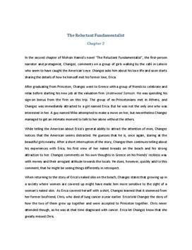 The Reluctant Fundamentalist Zusammenfassung Kapitel 2