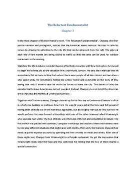The Reluctant Fundamentalist Zusammenfassung Kapitel 3