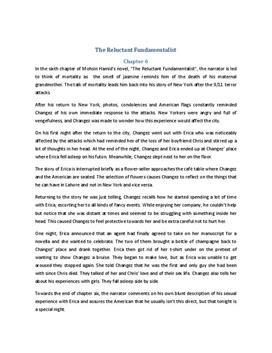 The Reluctant Fundamentalist Zusammenfassung Kapitel 6