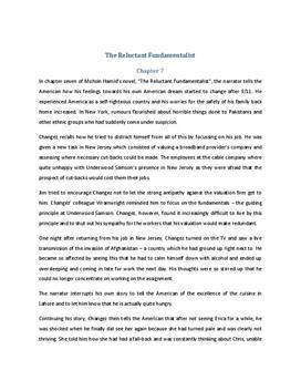 The Reluctant Fundamentalist Zusammenfassung Kapitel 7