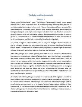 The Reluctant Fundamentalist Zusammenfassung Kapitel 9