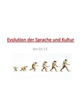Evolution der Sprache
