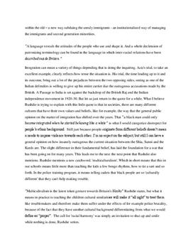 a passage to india thesis statements