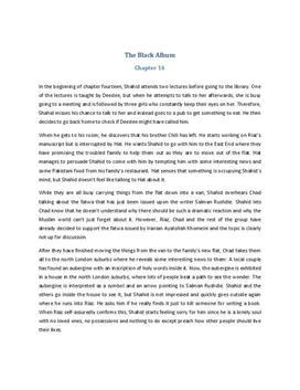 The Black Album Zusammenfassung Kapitel 14