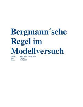 Referat - Bergmannsche Regel