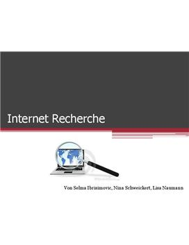 Referat über Internetrecherche