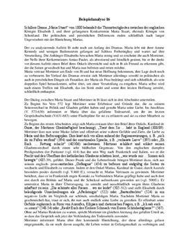 Analyse von Maria Stuart - Akt 1, Szene 6