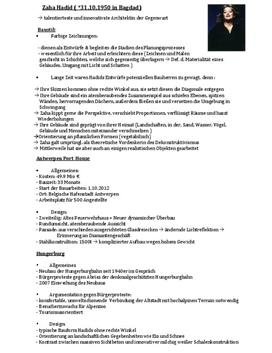 Referat über die Architektur von Zaha Hadid