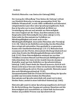 """Analyse von """"Vom Genius der Gattung"""" - die Sprachursprungstheorie"""