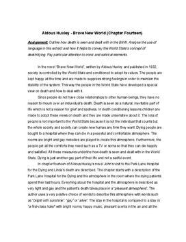 Analyse von Brave New World - Sprache und Tod
