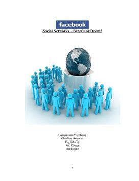 """Facharbeit zum Thema  """"Facebook"""""""