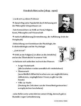 Referat über Friedrich Nietzsche - Kennzeichen seiner Philosophie