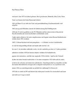 Biografie von Thomas Mann