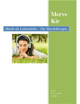 Facharbeit über Musiktherapie