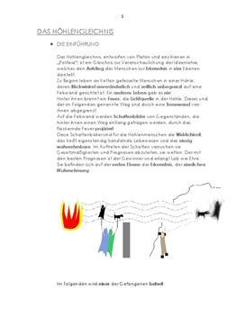Referat über das Höhlengleichnis von Platon