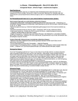 Referat über Pränataldiagnostik - Etik und Vorgehensweise