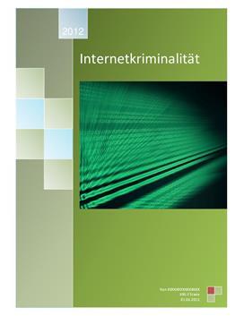 Facharbeit über Internetkriminalität