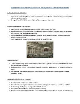 Referat Die Anfänge Der Französischen Revolution Der 3 Stand