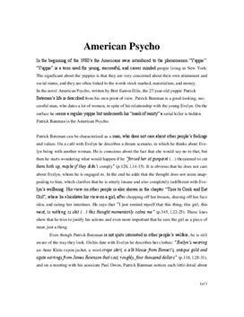 American Psycho Interpretation