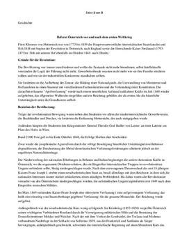 Referat - Österreich und der Erster Weltkrieg