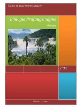 Ökologie - Biologie LK