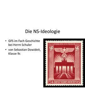 Referat über die  NS-Ideologie