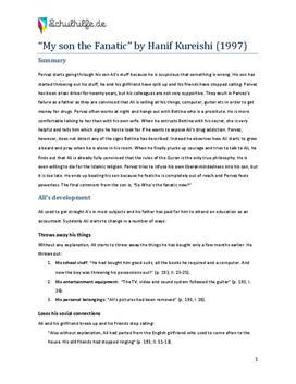My Son the Fanatic - Zusammenfassung, Analyse, Charakterisierung
