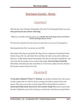 The Great Gatsby Zusammenfassung